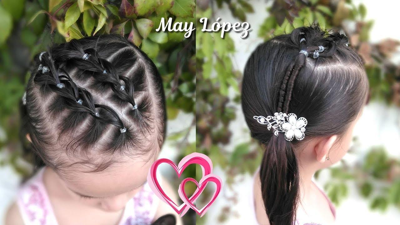 Peinado Para Ninas Elegante Con Ligas Para Graduacion