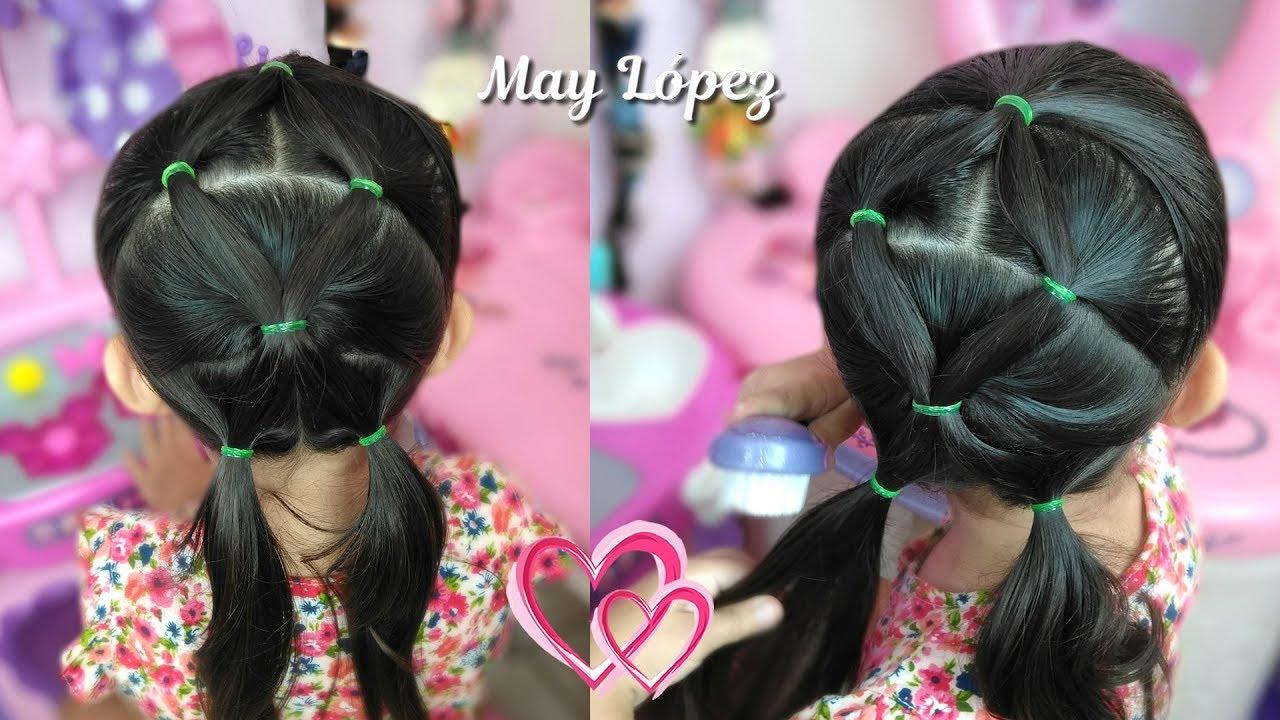 Peinado Facil Y Rapido Con Ligas Para Nina May Lopez May Lopez