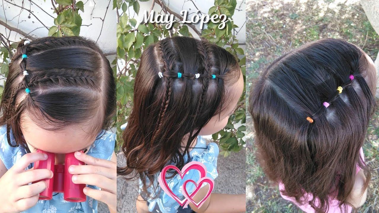 Peinados de niñas con ligas