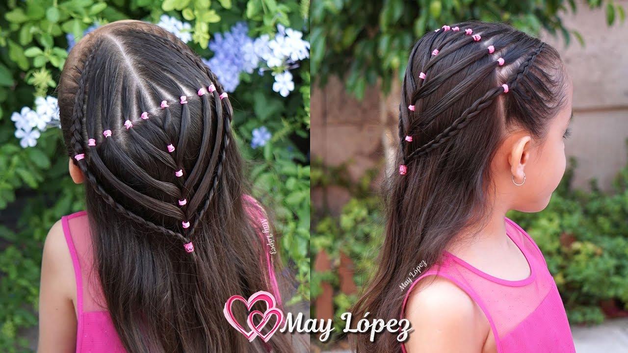 Super dulce peinados con gomitas Colección De Tutoriales De Color De Pelo - Peinado Elegante con Ligas Trenzas y Pelo suelto para ...